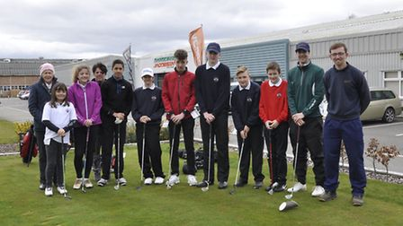 The visit by members of the Ipswich Golf Club junior development squad to Ransomes Jacobsen in Ipswi