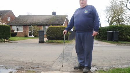 Eddie Payne of Wetheringsett who is unable to get broadband even though many of his neighbours have