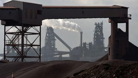 A view of the TATA Steel Plant in Scunthorpe.