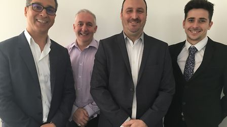 From left, Shahram Bagherzadeh, founder and managing director of Loop Voice and Data, Norman Mauroo,