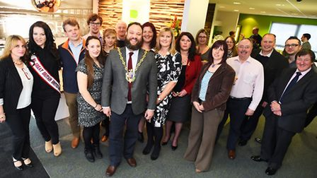 The official relaunch of the Basepoint Ipswich business centre by the Mayor of Ipswich, Glen Chishol