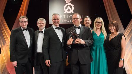 The team from Observatory the Opticians with their trophy at the 2016 Opticians Awards. Photo: Mike