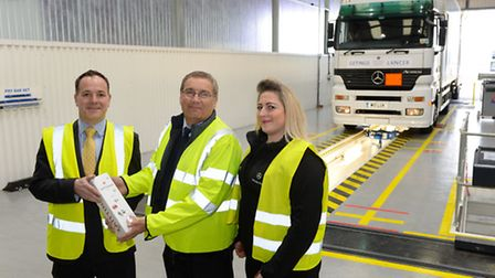 From left, Jonathan Ager, Orwell Truck & Van managing director. Mark Channells of Getinge (the first