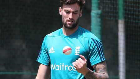 Reece Topley training at the Feroz Shah Kotla Stadium. Picture courtesy of George Franks