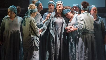 Iphigenie en Tauridei staged by English Touring Opera at Snape Maltings