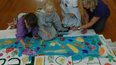 Children taking part in an Eastfeast event.