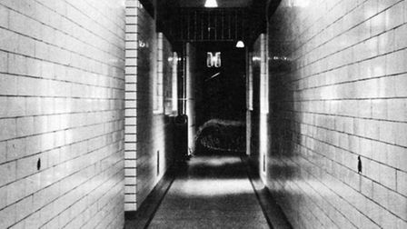The cell passageway at the old Marlborough Street Magistrates' Court