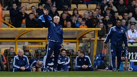 Mick McCarthy calls out instructions at Wolves