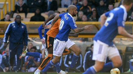 David McGoldrick on the pitch at Wolves after coming on as a second half substitute