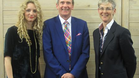 From left, guest speaker Dr Suzannah Lipscomb, Ipswich Building Society chief executive Paul Winter