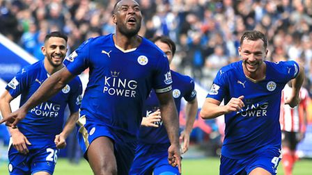 Leicester City captain Wes Morgan will lift the Premier League trophy on Saturday evening