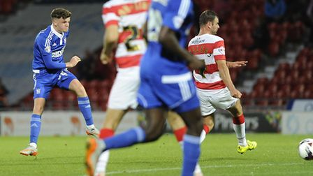 Adam McDonnell drags a first half chance wide on his debut