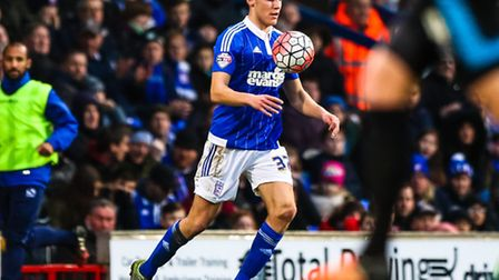 Paul Digby chests down the ball during the Ipswich Town V Portsmouth (Emirates FA Cup Third Round) m