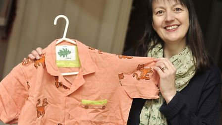 Businesswoman Jo Salter, of Where Does It Come From, has a collection of animal print Fairtrade scar