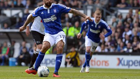David McGoldrick scores at Derby from the penalty spot