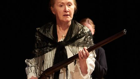 Shelley Clempson as the title character in the Gallery Players production of The House of Bernarda