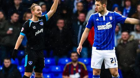 Piort Malarczyk in action during the Ipswich Town V Portsmouth (Emirates FA Cup Third Round) match a