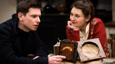 Victoria Emslie as Lotty with Mat Ruttle as her former lover and resistance fighter Ben de Cartere i