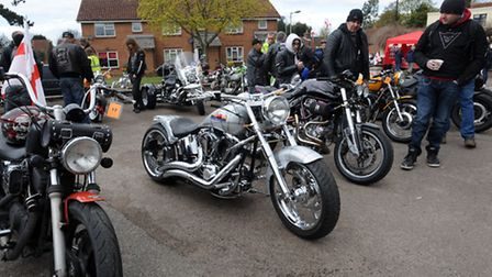 The St George's Day Bike Show at the Bell Inn, Kesgrave.