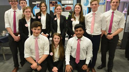 The Wick & Wax Company team from Woodbridge School at the final of the 2016 Suffolk Young Enterprise