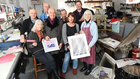 Gainsborough's House print workshop members are getting ready for next month's exhibition.