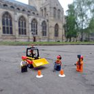 The launch of the project to build a model of St Edmundsbury Cathedral in Bury St Edmunds out of Leg