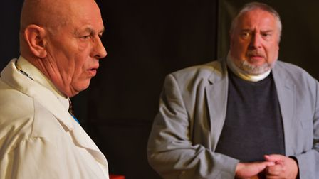 Peter Sowerbutts as Dr Wicksteed and Tim Hall as Canon Throbbing in Habeas Corpus, by Alan Bennett