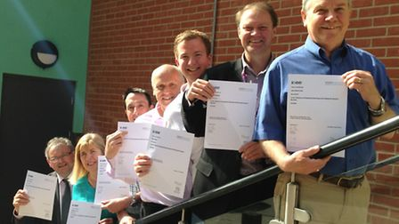 The New Anglia Growth Hub team of advisers with their SFEDI Level 7 certificates.