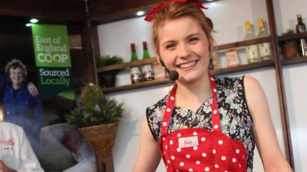 Bethany Foster will be on the Cookery Theatre stage at this year's Suffolk Show.