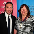 John Dugmore, chieif executive of Suffolk Chamber of Commerce, and Sarah Howard, president. Photo:
