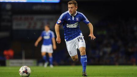 Ipswich Town v Stevenage Capital One Cup First Round. Ryan Fraser in action for Town.