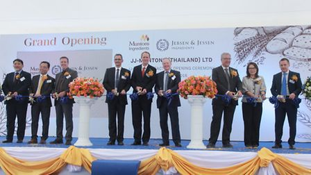 Muntons officially opening its new vacuum band drying plant in Thailand.