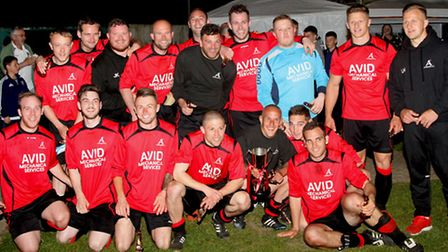 The winning Achilles squad that beat Haughley United 4-2 to win the Bob Coleman Cup