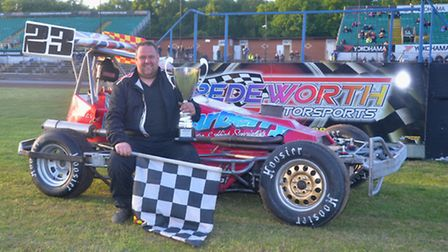 Bury's Matt Carberry won his fourth European Superstox title at Foxhall
