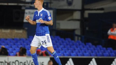 Ipswich Town v Stevenage Capital One Cup First Round.Josh Yorwerth scores for Town .