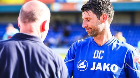 Danny Cowley pictured after Braintree had been knocked out by Grimsby in the Braintree v Grimsby (Na