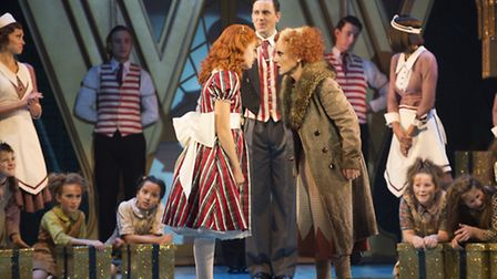 Lesley Joseph as Miss Hannigan in Annie, which runs from April 25-30 at the Ipswich Regent. Photo: P