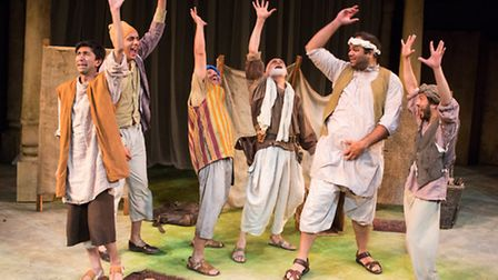 The Mechanicals in Sir Trevor Nunn's A Midsummer Night's Dream at the New Wolsey Theatre