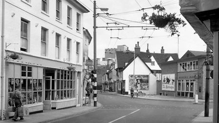 Fore Street shops were preparing for a visit to Ipswich by the Queen in 1961