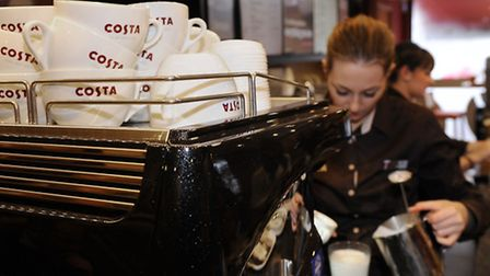 Sales growth has rebounded at coffee chain Costa. Photo: Joe Giddens/PA Wire