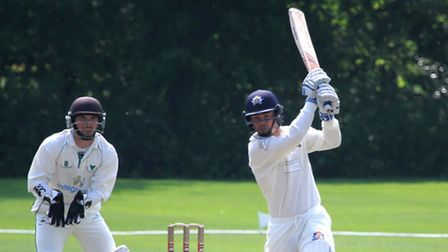 Copdock skipper, Tom Rash, in action with the bat. He was very impressed with teenager Donald Mlambo