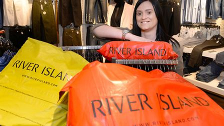 Dannii Hooper, manager of River Island at the Sailmakers Shopping Centre in Ipswich.