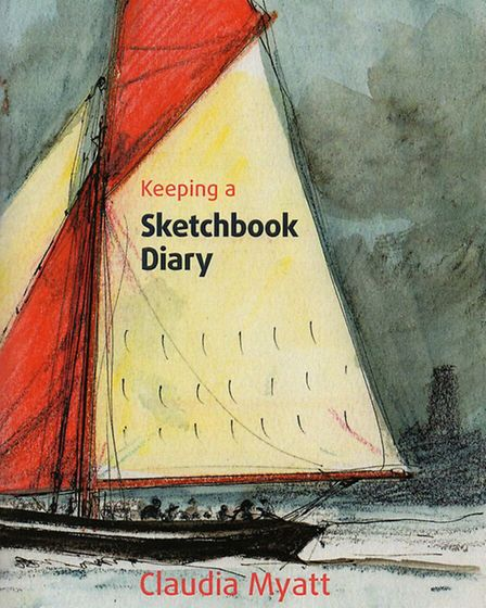 The cover of Claudia Myatt's book Keeping a Sketchbook Diary