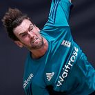 England's Reece Topley bowls during a practice session a day ahead of the ICC Twenty20 2016 Cricket