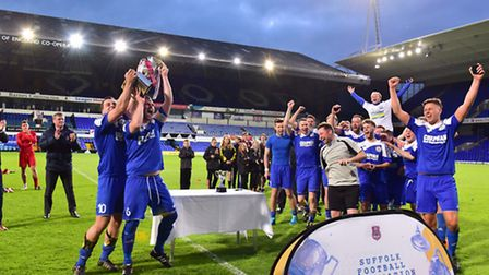 AFC Hoxne become the champions of the Suffolk FA Junior Cup against Henley.