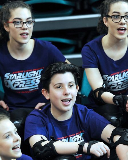 Cast members of the Co-op Juniors' production of Starlight Express. Photo: James Fletcher