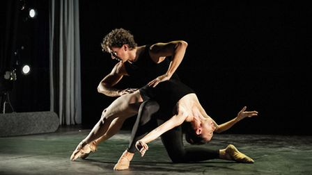 Gary Avis and his partner from the Royal Ballet, Mara Galeazzi, performing Lieder Pas de deux