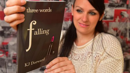 Kelly Dorward with her book. Photo: Nick Butcher