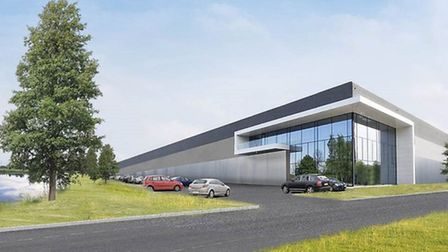 An artist's impression of what St James' Business and Logistics Park will look like.