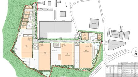 The proposed layout for St James' Business and Logistics Park.